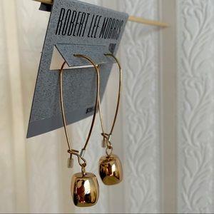 NEW Robert Lee Morris Soho Goldtone Drop Earrings
